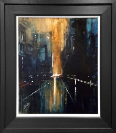 David Coulter Evening Glow Manchester Original Painting for sale