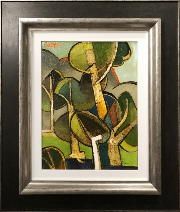 Geoffrey Key Dusk Grove Original Oil Painting for Sale
