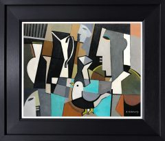 Peter Stanaway Singing Bird Original Painting for Sale