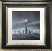 Trevor Grimshaw Mills in Moonlight Original Drawing for Sale