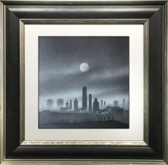 Trevor Grimshaw Mills in Moonlight Original Drawing for Sale