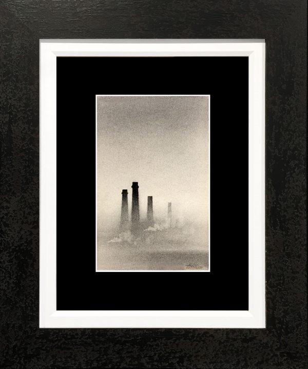 Trevor Grimshaw 4 Chimneys Original Drawing for Sale