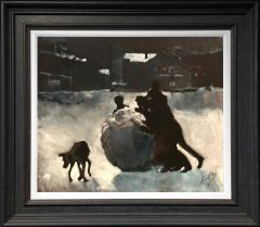 David Coulter Giants Snowball Original Painting for sale
