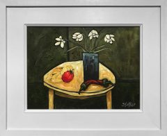 Steve Capper Still life with Tomatoes & Peppers Original Painting for Sale