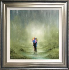 Danny Abrahams Original Painting Happy Together What Ever the Weather