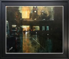 David Coulter The Principal at Dusk Original Painting for sale