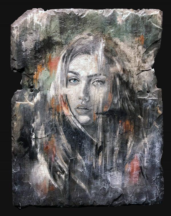 Jamie Green Study on Slate Original Painting