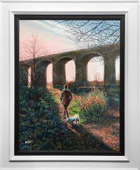 Phil Ashley Reddish Vale Original Painting for Sale