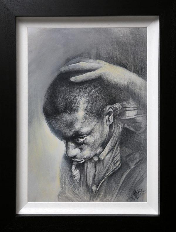 Craig Everett Haircut Original Painting for Sale