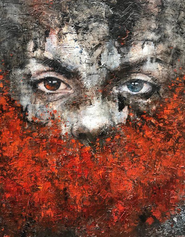 Jamie Green Silent Witness Original Painting