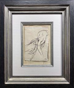 Keith Vaughan Figure Study Original Drawing for Sale