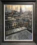 David Coulter Manchester Town Hall at Dawn Original Painting