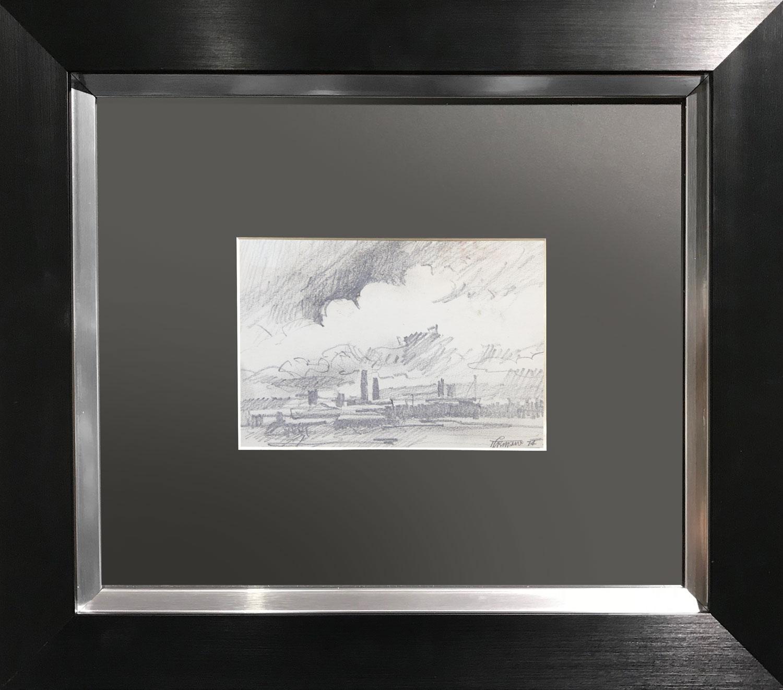 Trevor Grimshaw Skyline 74 Original Drawing for Sale
