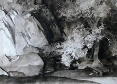 Sir William Russell Flint Original Painting Ash Tree and Gorge