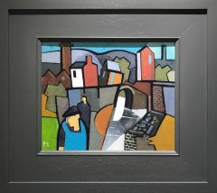 Peter Stanaway Huddersfield Canal Diggle Original Painting for Sale