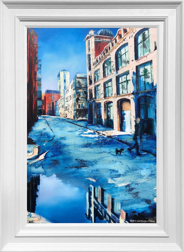 Hugh Winterbottom Walking the Dog Original Painting