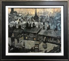 David Coulter Ordsall Smokey Morning Original Painting for sale