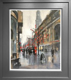 David Coulter Chinese Lanterns St Annes Square Original Painting for sale