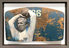Jamie Green Bobby Moore 66 Wembley Seat Original Painting
