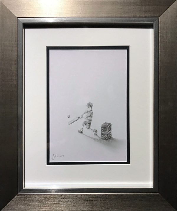 Danny Abrahams Cricket Mad Original Pencil Drawing for sale