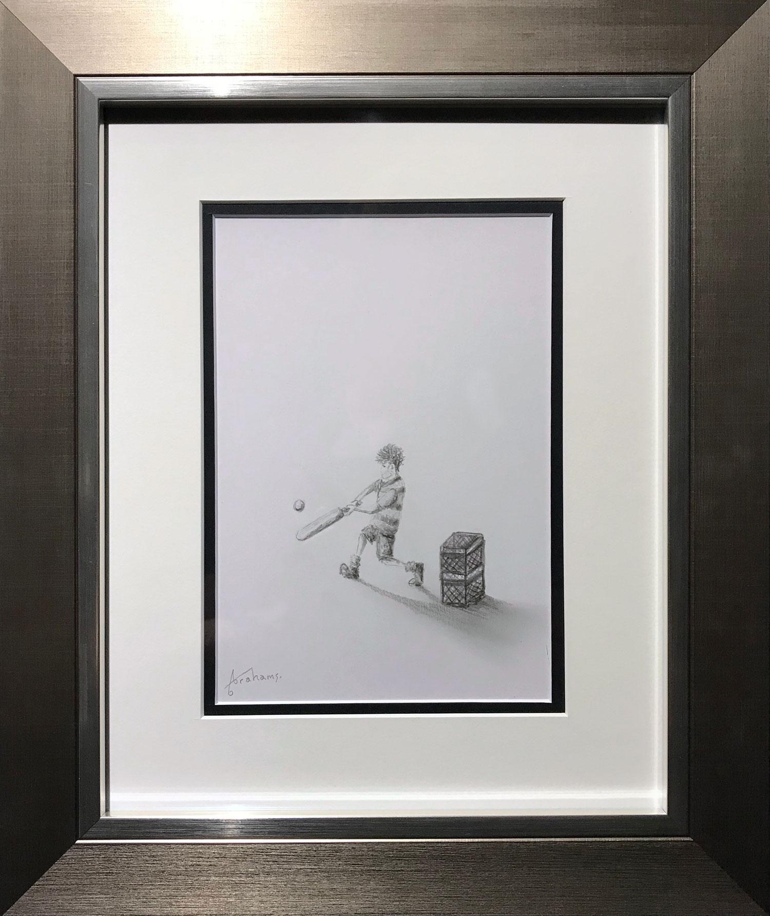 Danny Abrahams Cricket Mad Original Pencil Drawing for sale