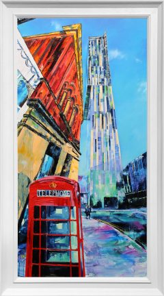 Hugh Winterbottom Manchester Looking Up Original Painting