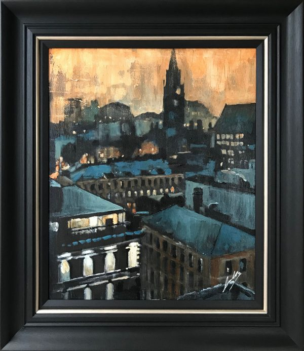 David Coulter Manchester Character Original Painting for sale