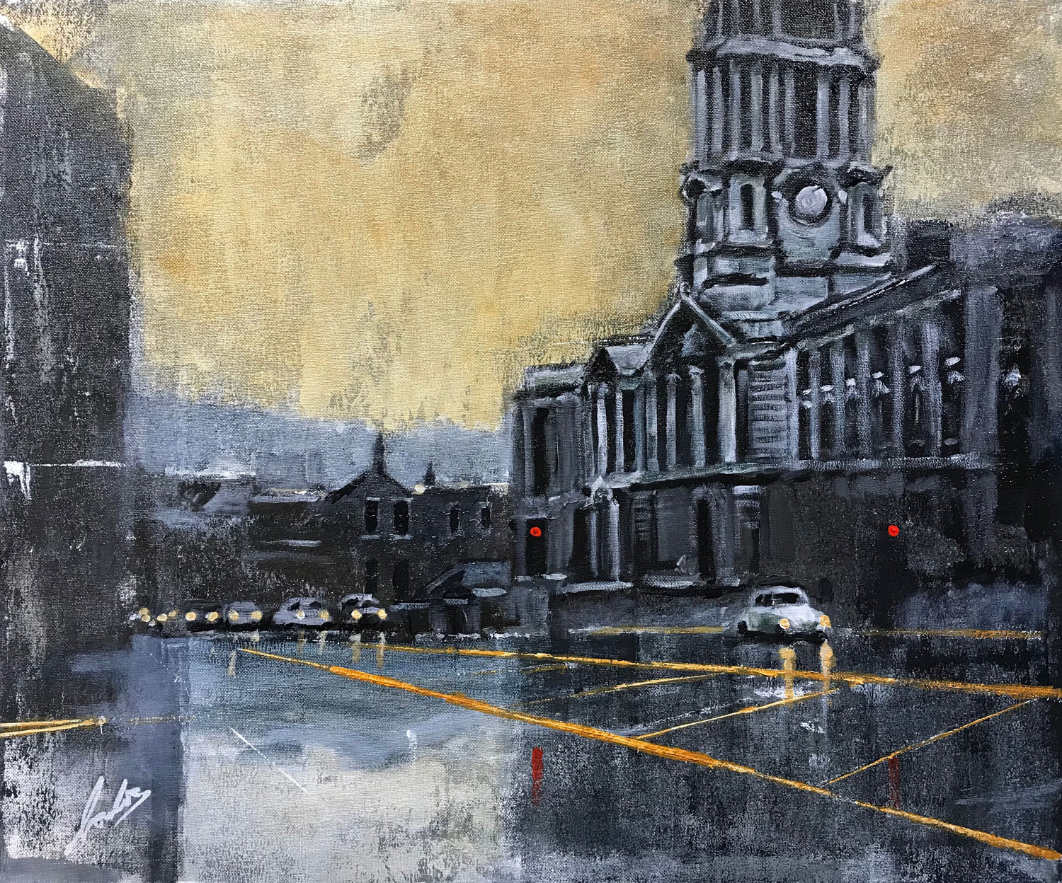 David Coulter Stockport Town Hall from Gallery Steps Original ...