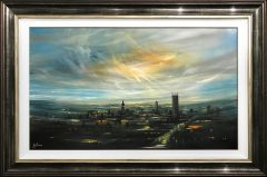 Danny Abrahams Original Painting Manchester At Dusk