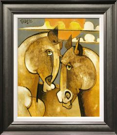 Geoffrey Key Horses with Sun