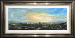 Danny Abrahams Original Painting Manchester Skyline