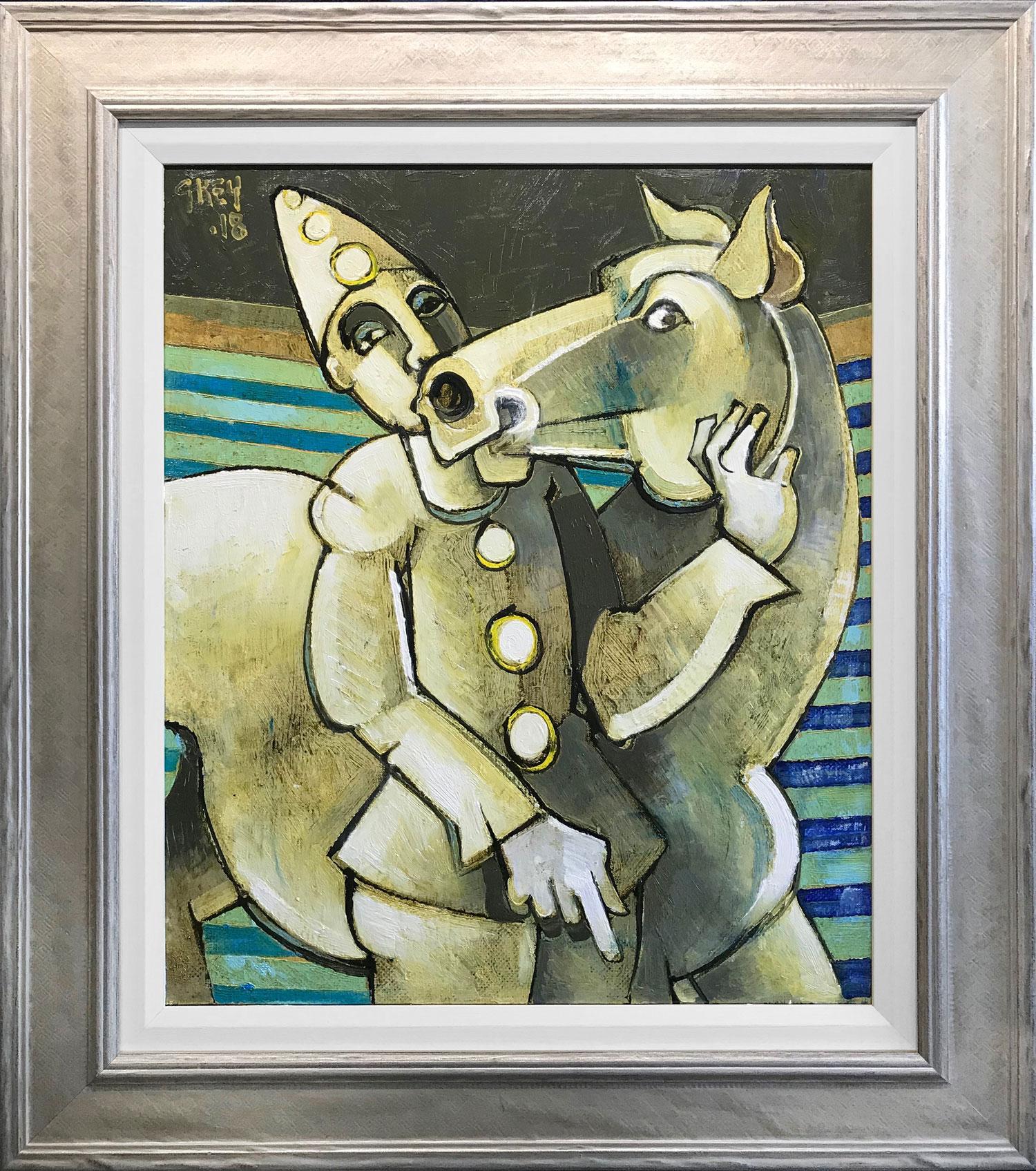 Geoffrey Key Pierrot with Horse