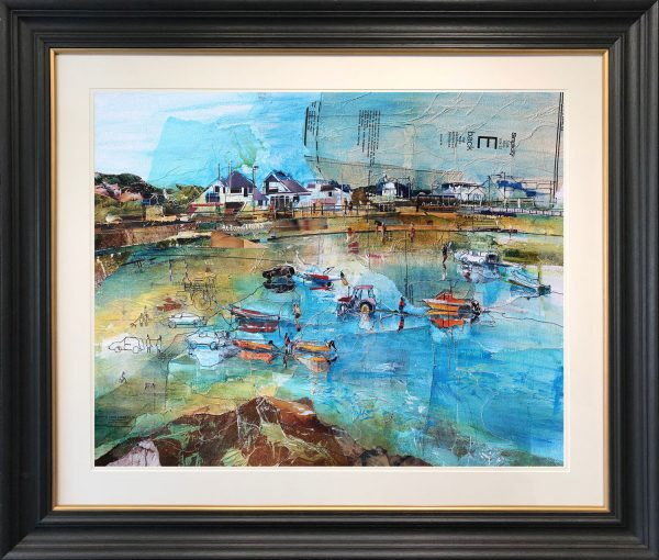 Rob Wilson - Pulling the Boats in at Trearddur Bay