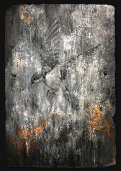 Jamie Green Swallow Painting on Slate