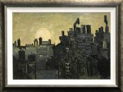 Wilf Roberts Chimneys Painting for Sale