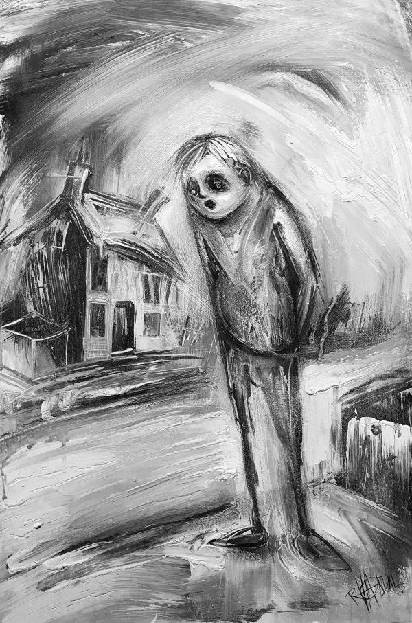 Craig Everett Shocked Original Painting for Sale