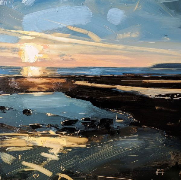 Hester Berry Low Tide, Low Sun, Westward