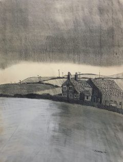 CAT No: 36 - JOHN VIRTUE - OLD FARM ON HAMELDON HILL 1973