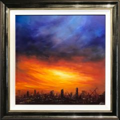 Danny Abrahams Original Painting Manchester Sky