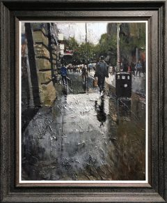 David Coulter St Anne's Rain Original Painting for sale