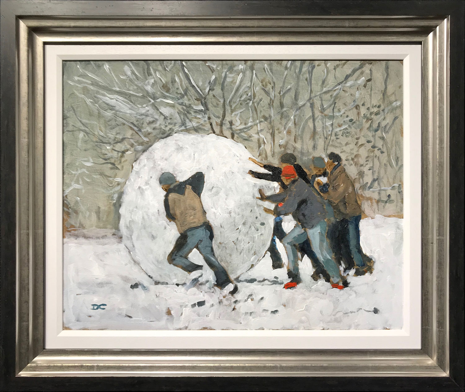 David Coulter Original Painting Get the Ball Rolling