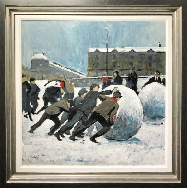 David Coulter Original Painting Snow Joke