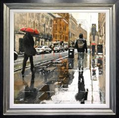 David Coulter Wet Traffic, Cross Street are Original Painting for sale