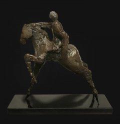 Geoffrey Key Horse & Rider Sculpture
