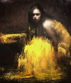 Mark Demsteader Autumn Lake Original Oil Painting
