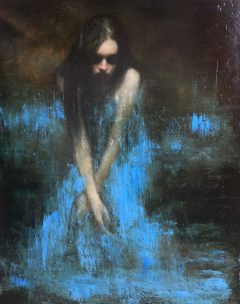 Mark Demsteader River Bank Original Oil Painting