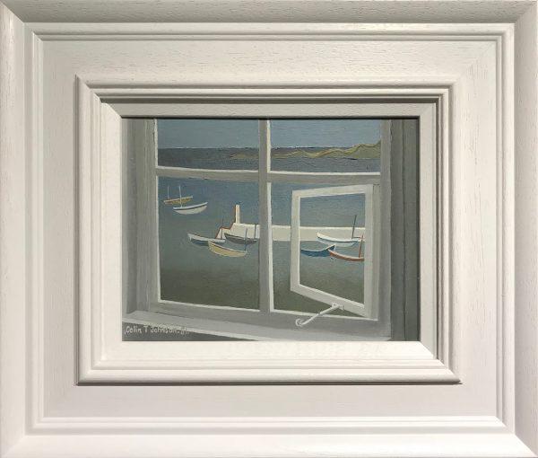 Colin Trevor Johnson Overlooking a Quiet Harbour 1981