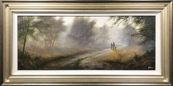 Danny Abrahams Original Painting Love is in the Autumn Air