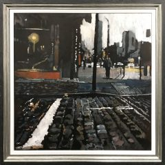 David Coulter Manchester Cobbles Original Painting for sale