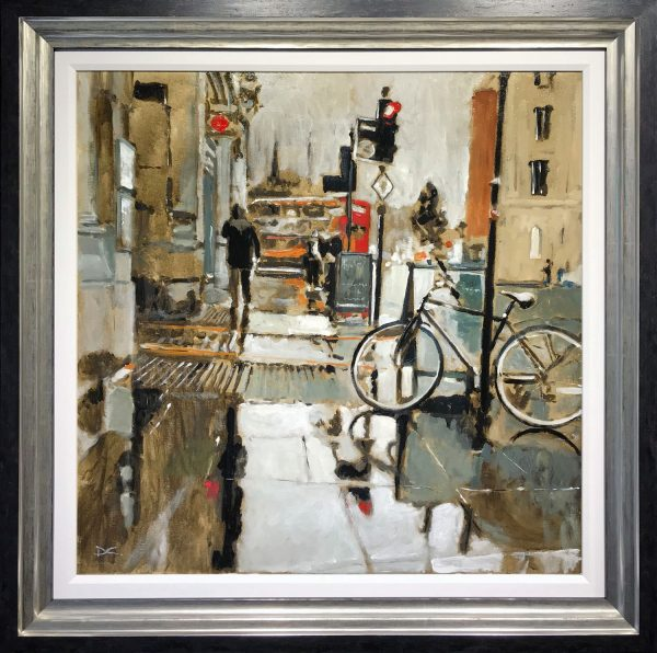 David Coulter Parked Wheels Original Painting for sale